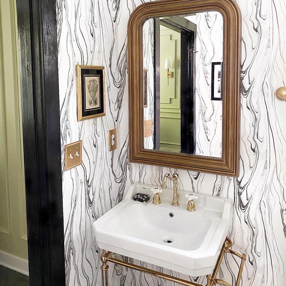 Vintage Glam Half Bathroom